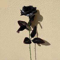 Yapay Çiçekler Beyaz Siyah Gül Buketleri Ipek Gül Çiçek Bitki Sahte Düğün Dekoratif Çiçek Düğün Süslemeleri DSL-YW3175