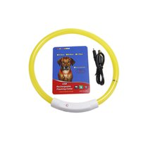 LED Dog Collar, USB Rechargeable Glowing Dog Collars, Light U...