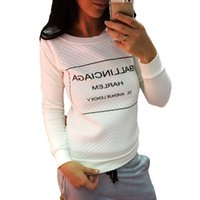 Letter presente Sweatershirts Hot Selling New Autumn Cashmere Manga comprida Hoodies Printing Feminino