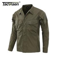 TACVASEN Tactical Jacket Men Sommer Dünne Atmungsaktive Tarnkleidung Army Combat Jacket Fish Hunt Outwear