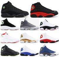 2021 13 Bred Chicago Flint Atmosphère Gris Hommes Chaussures 13S Il a eu le jeu Melo DMP Hyper Royal Sneakers 40-47