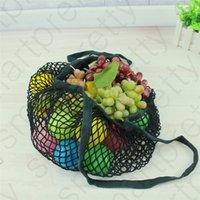 14 Renkler Yeniden kullanılabilir Alışveriş Bakkal Çanta Meyve Sebze Mesh Shopper Totes Dokuma Net Çanta Taşınabilir Omuz Ev anne Saklama Poşetleri D31008
