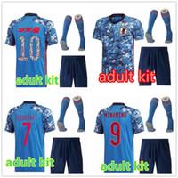 Homens Kit Japão Jersey 2020 Japão Futebol Jersey Atom Kagawa Endo Okazaki Nagatomo Hasebe Kamamoto Adulto Kit Camisa de Futebol