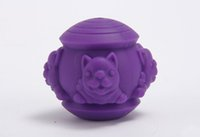 1PCS Pet IQ Treat Ball Pet Silicone Leaking Puzzle Toy Ball ...