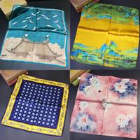 pays classique vent chinois Haute qualité Rui milliers miles Figure 55cm soie petit foulard en soie carré 100% soie d'impression magasins d'usine