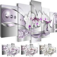 (Kein Rahmen) Leinwanddruck Moderne Abstrakte Blumen Orchidee Malerei Home Dekoration Wandmalerei Kunst
