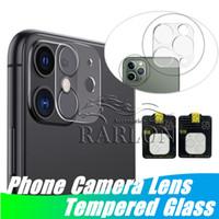 휴대 전화 HD 카메라 렌즈 강화 유리 투명 화면 보호기 iPhone 12 미니 11 Pro Max XS XR 패키지에 대 한 전체 적용 범위