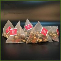 500pcs lot Tea Filter Bags Nylon With Label Empty Disposable Teabags Tea Infuser Strainer Bag Clear storage bag 5.8*7CM FFA1445