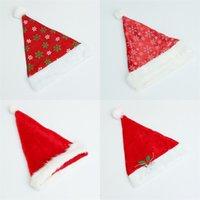 Panno lungo di peluche Cappello di Natale Festival Decorazione Abbigliamento Festival Festival Colore puro Cappelli di Babbo Natale Vendita calda 4 8g L1