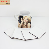 Sublimation Blank Place Coaster Coaster MDF Bois DIY Customed Coupe Pad Slip Isolation Pad Coupe Tapis Pad Porte-Boisson Chaude