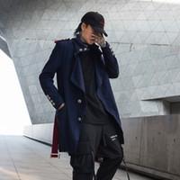 Laine masculine mélange hiver manteau de laine mince mode massif couleur solide stand col collier manche homme streetwear wild wildowat mâle