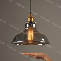 Pendentif Lampes Verre Transparent Smoky Grey Cognac Vintage Vintage Loft Industrial E27 pour Vêtements Magasin Magasin Cuisine Cuisine Chambre Dinning Balcon DHL