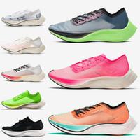 Nike Air ZoomX Vaporfly Next% 여성 남성 실행 신발 통기성 발레리 안 블루 핑크 에키 덴 블루 리본 진정한 주자 운동화 36-45