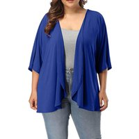 Outerwear & Coats Jackets Plus Size Summer Casual Open Front...