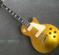 Kürbis Standard heißt neue @ #! $ E-Gitarre mit Front Gold und zurück gelb P90 Seifenstück Pickup