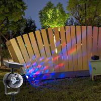 Proiezione Lampada solare solare luci del proiettore esterno, rotante RGB che cambia LED lampada di proiezione