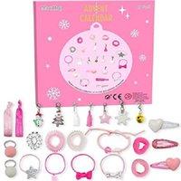 Adventskalender, Schmuck Dezember 2020 Countdown für Weihnachten für Mädchen-Frauen mit Mode Haar Binder Ohrring Armbänder