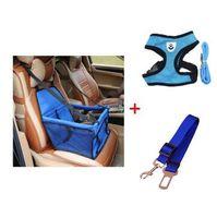 4 Farben Pet Booster Autositz mit Hundegeschirr Auto-Sicherheitsgurt S-XL