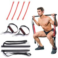 Resistance Bands Portable Home Fitness Gym Pilates Bar Syste...