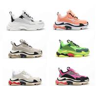 2020 Новая мода обувь Париж 17FW Cactus металлическое золото стилиста кроссовок Тройной Белый Обширные Casual обувь теннис черный красный Мужчины Женщины обувь