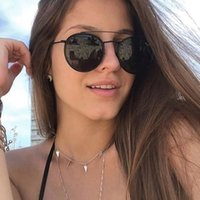 QPeClou 2019 New Classic Round Sunglasses Women Men Small Me...