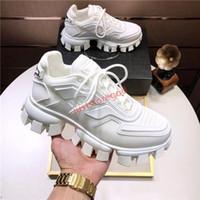 Prada shoes Hombres-top Calzado casual con cordones zapatos de diseño de cápsula de color serie coincidente plataforma de lujo zapatillas de deporte