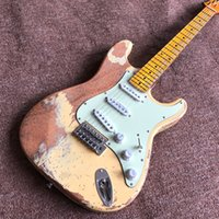 Yeni stil, elektro gitar. yüksek kaliteli 6 sokması fingerboard.real fotoğrafları guitarra.maple pickups.handmade