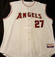 6467f57e7c0 Wholesale baseball vest jersey online - Cheap LOS ANGELES MIKE TROUT COOL  BASE Jersey Vest Stitched
