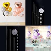 7 أنابيب البالونات يقف بالون حامل العمود النثار بالون استحمام الطفل لوازم الاطفال تاريخ الميلاد حفل زفاف الديكور