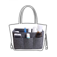 Fieltro organizador de maquillaje para bolso de inserción bolso monedero bolso bolsa de almacenamiento, bolsas de cosméticos bolsas de aseo se adapta para el organizador de viajes