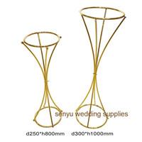 Metal Demir Çiçek Düğün Dekorasyon Çiçek Düzenleme Floristik Tablo Centrepiece Dekor senyu0148 için Mumluk zemin Standı