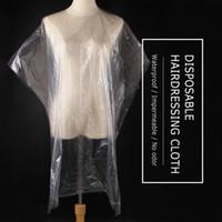 Monouso saloni del Capo dello scialle Perm Capelli tinti di Cape abito Hair Salon Capes Trasparente sciarpa impermeabile panno membrana 90x135cm 50pcs / Set