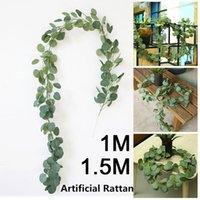 Romântico Artificial Planta Artificial Insrattan Simulado Eucalyptus 2M Casa Decor Greenery Livingroom Festivo