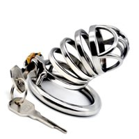 2019 New Design Male Chastity Cage Device Lock Rings Penis Cage Cockrings 40 45 50mm Sex Toy for Men G7-1-257C