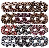 12 Cor Mulheres Meninas de Veludo Dots Leopardo Anel Elástico Laços de Cabelo Acessórios Rabo de Cavalo Titular Hairbands Banda de Borracha Scrunchies INS hot