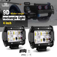 2Pcs 30W Led Light Bar 4' ' Pod Lights 9D Reflector...