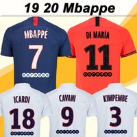 19 20 MBAPPE ICARDI Soccer Jerseys CAVANI Home Away Mens Foo...