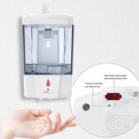 Otomatik Sabunluk 700ml Duvar Otomatik Sensör Büyük Kapasiteli Sıvı Sabun Dispenserler Banyo Aksesuarları 100pcs OOA8167 Monteli
