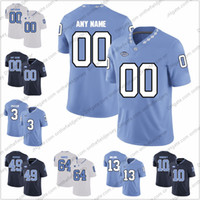 Personalizzata North Carolina Tar Heels Football Jersey Qualsiasi nome Numero 97 Jalen Dalton 76 William Barnes 77 Jonah Melton 14 Jake Lawler S-4XL