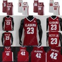 NCAA Alabama Crimson Tide Baloncesto Jersey Kira Lewis Jr Jaden Shackelford John Petty Jr Herbert Jones Robert Horry Alex Reese Javian Davis