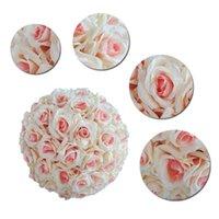 Simulation de cryptage de haute qualité Rose Flowers bishasserb ball pour décorations de mariage de fête bouquet Diamètre 15-30cm