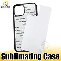 2D Sublimação DIY Designer Case Transferência de Calor PC Sublimação de telefone em branco para iPhone 12 Pro Max 11 Samsung S21 Ultra Izeso