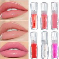 액체 색조 립글로스 반짝이 화장품 립 플럼퍼 6 색 빨간색 오래 지속되는 모이스처 라이저 립스틱 클리어 립글로스