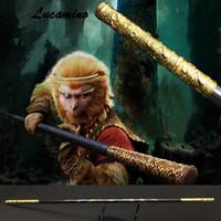 Houten Monkey King Personeel Kungfu Houten Wushu Sticks Aap Cudgels Carving Dragon Golden Cudgel Sun Wukong Sticks Practice
