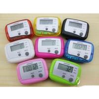 2 anahtar LCD Dijital Adım Adımsayar Run Mesafe Adımölçerler Kalori Yürüyüş Sayacı Cep Klip 500pcs / lot DHL Fedex ücretsiz hızlı sevkiyat