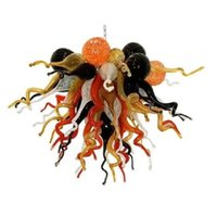 في مهب عالية الجودة زجاج الروسية الكروم سقف مصباح تصميم زهرة زجاج مورانو الثريا اليد الزجاج الثريا