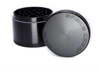 Caso do Espaço 63mm HERB Grinder com 4 peças preto cor prata Liga De Alumínio moedor de tabaco em estoque vs sharpstone moedor