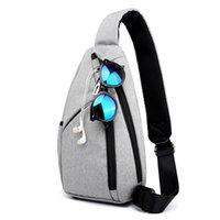 Nylon Waterproof Men Messenger Bags External Earphone Plug M...