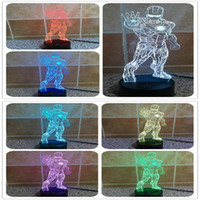 2020 New waterproof 3D luminous LED lamp holder, LED stereo ...