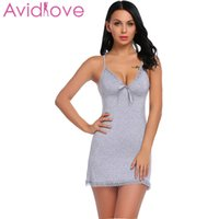 9bf9402389 Wholesale sexy cotton nighties for sale - Avidlove Nightie Cotton  Nightgowns Plus Size Sexy Home Wear